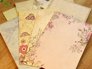 10pcs Vintage Office Message Writing Paper Letter Set European Country Style Love Envelope Letter Paper School Stationery Supply